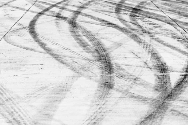 Uślizg oceny na drogowej powierzchni obrazy royalty free