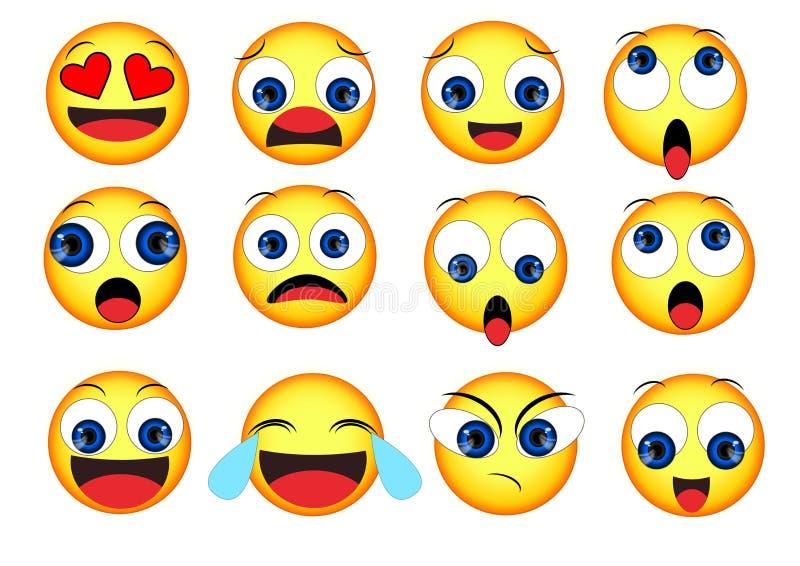 Uśmiechów emoticons ustawiający ilustracji