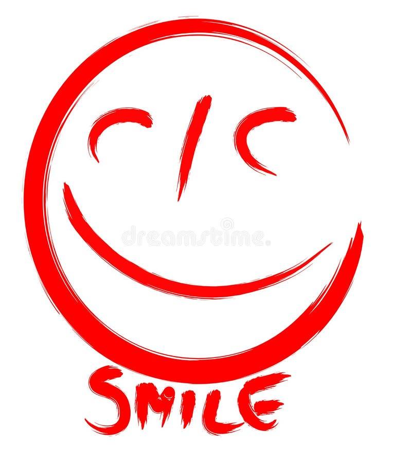 uśmiech. royalty ilustracja