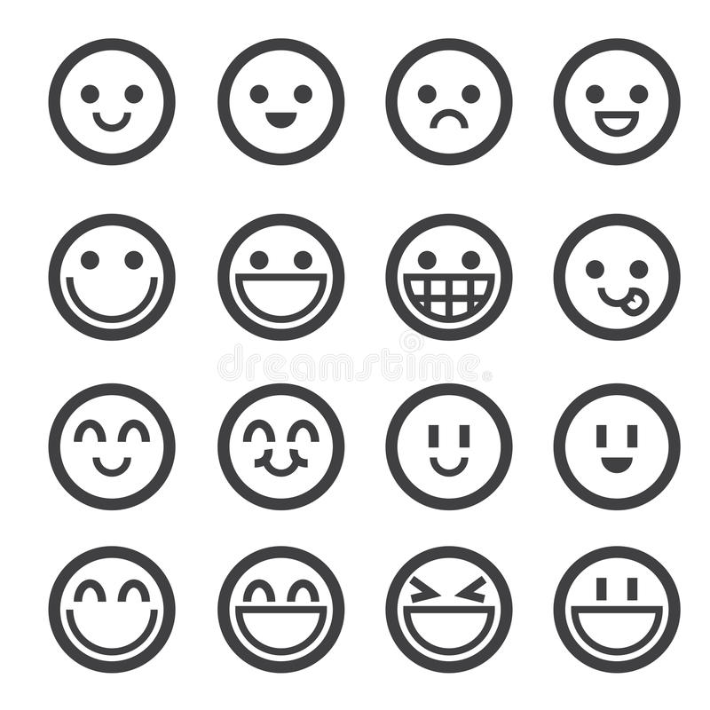 Uśmiech ikona royalty ilustracja