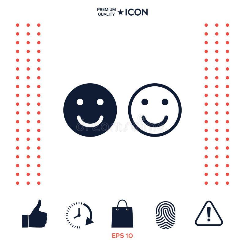 Uśmiech ikona Szczęśliwy twarz symbol dla twój strona internetowa projekta ilustracja wektor