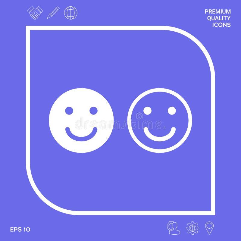 Uśmiech ikona Szczęśliwy twarz symbol dla twój strona internetowa projekta royalty ilustracja
