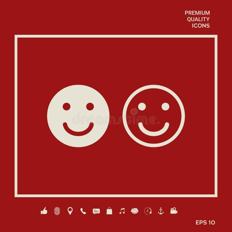 Uśmiech ikona Szczęśliwy twarz symbol dla twój strona internetowa projekta ilustracji