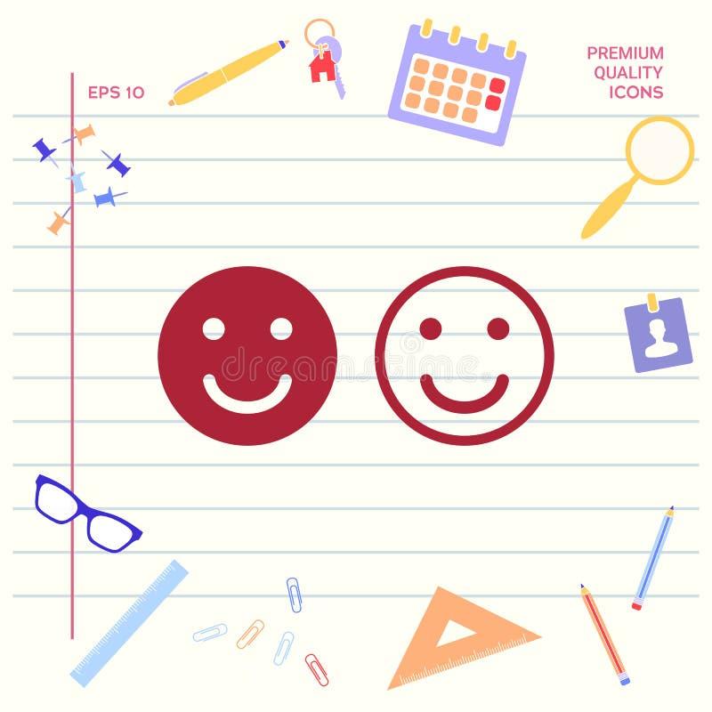 Uśmiech ikona Szczęśliwy twarz symbol dla twój strona internetowa projekta Graficzni elementy dla twój projekta royalty ilustracja