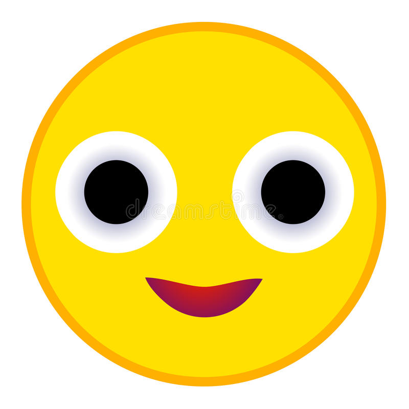 Uśmiech ikona w mieszkanie stylu royalty ilustracja