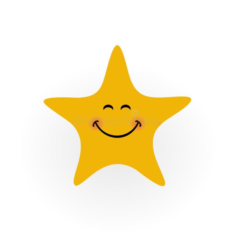 Uśmiech ikony gwiazdowy logo - wektorowa ilustracja ilustracji