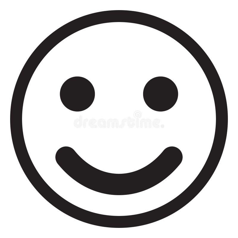 Uśmiech ikony wektor royalty ilustracja