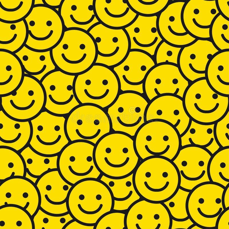 Uśmiech twarzy Bezszwowy wzór royalty ilustracja