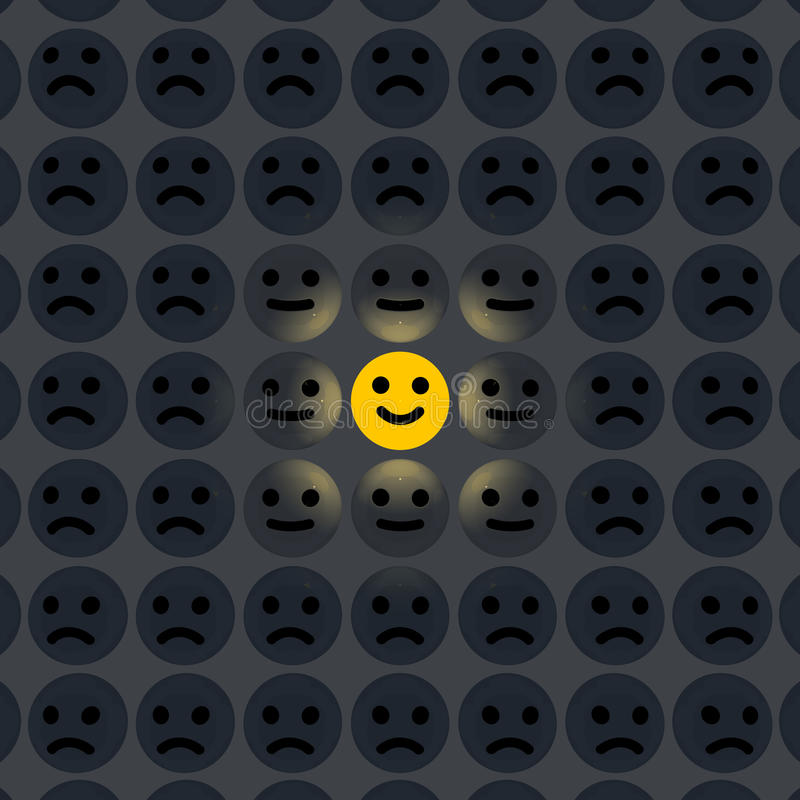 Uśmiech w tłumu ilustracji