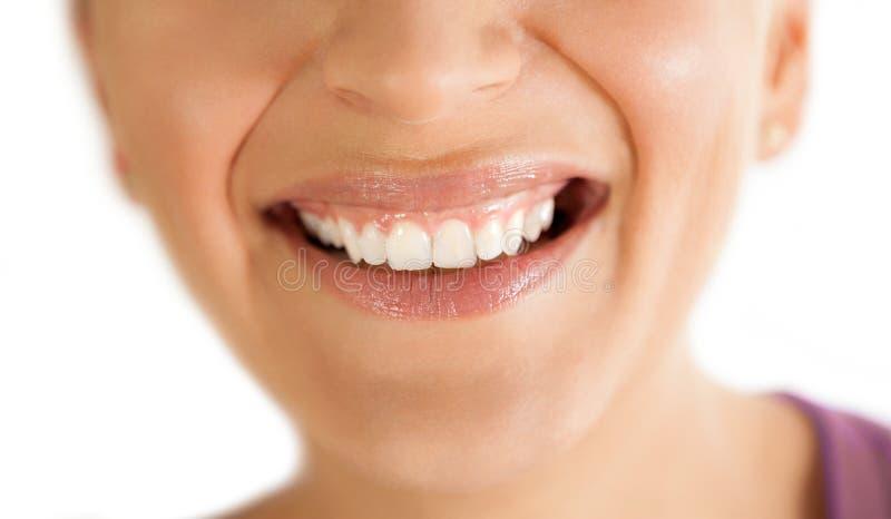 Uśmiech z zdrowymi zębami zdjęcie royalty free