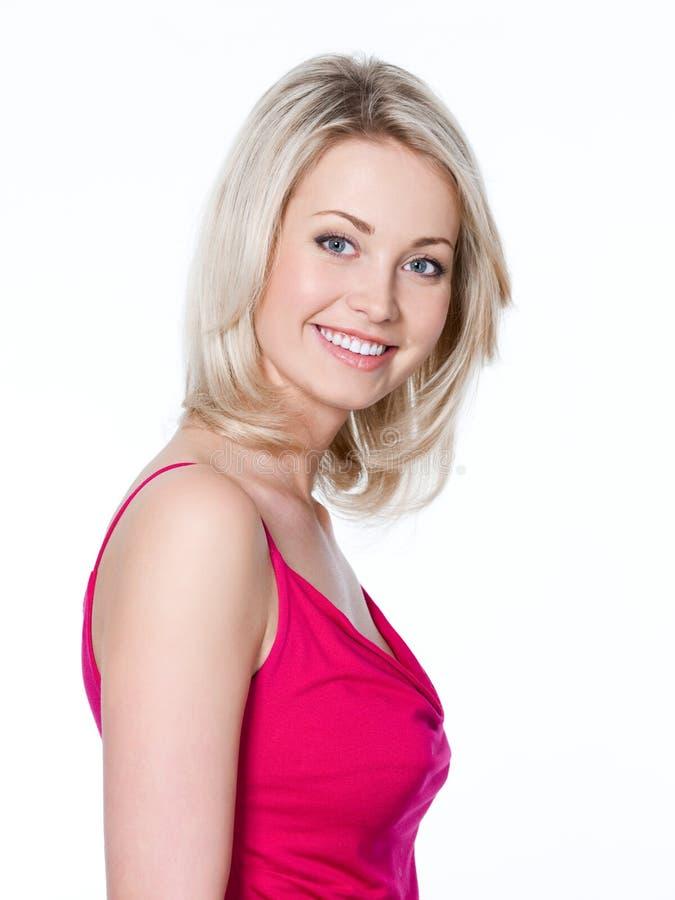 uśmiech zdrowa ładna kobieta zdjęcie stock