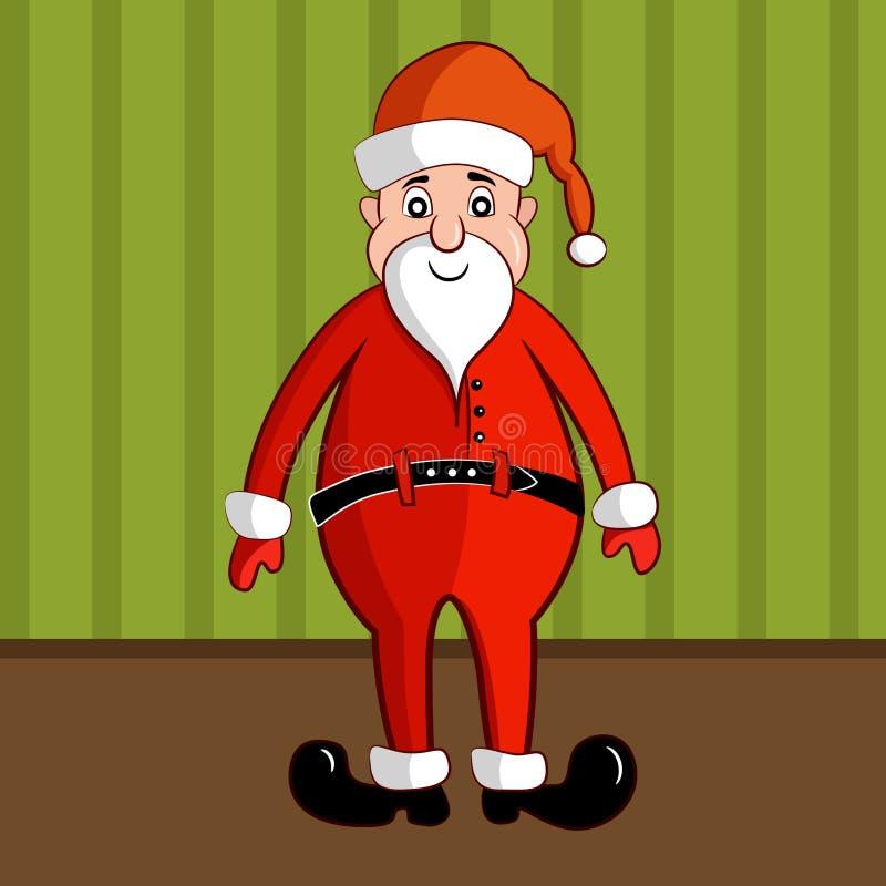 Uśmiechać się Święty Mikołaj w tradycyjnym czerwonym kostiumu royalty ilustracja