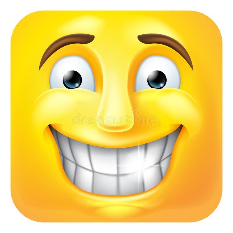 Uśmiechać się Emoji Emoticon ikony 3D postaci z kreskówki ilustracji