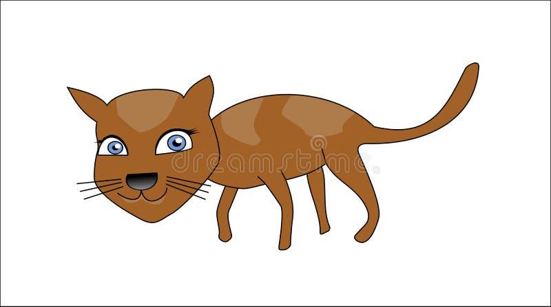 Download Uśmiecha się kota ilustracji. Ilustracja złożonej z zwierzę - 57673013