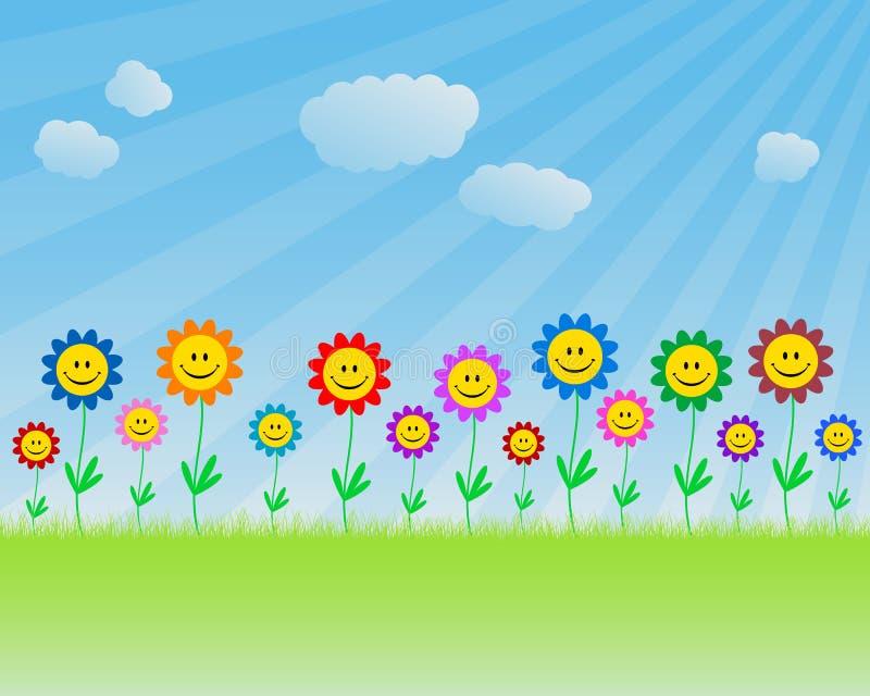uśmiecha się kwiatów ilustracja wektor