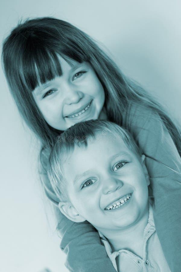 uśmiecha się młode dzieci fotografia stock