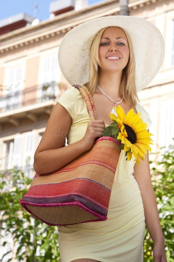 uśmiecha się słonecznika fotografia stock