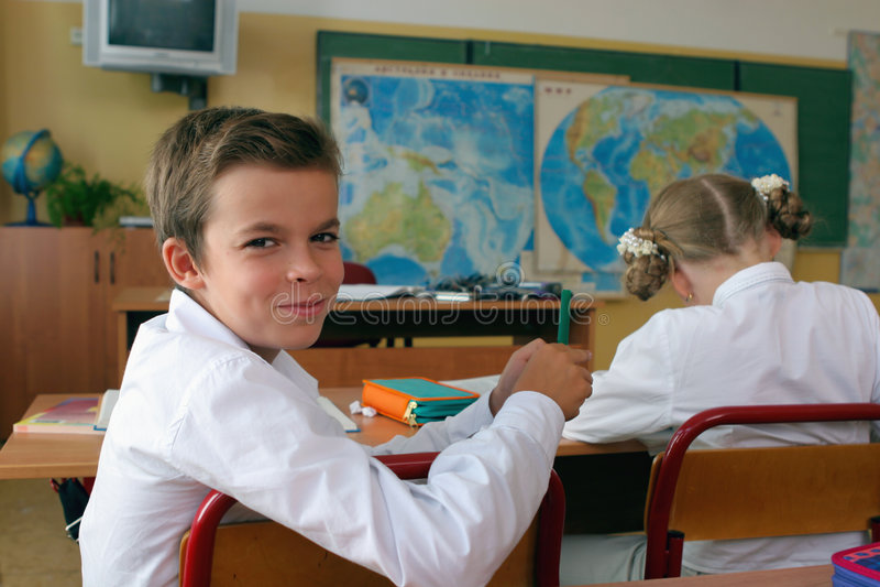uśmiecha się ucznia obrazy stock