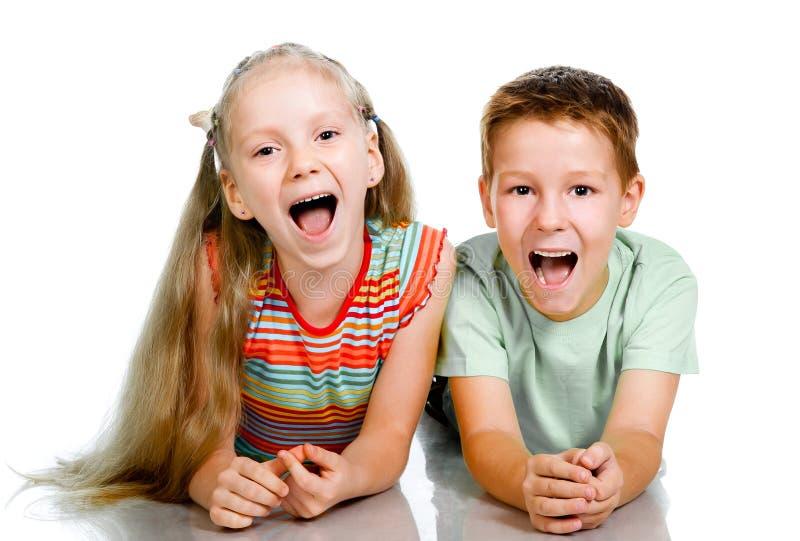 Uśmiechnięci dzieciaki fotografia royalty free