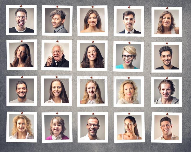 Uśmiechnięci ludzie zdjęcie stock