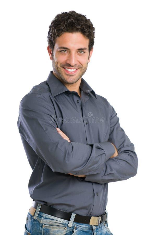 uśmiechnięci mężczyzna potomstwa fotografia royalty free