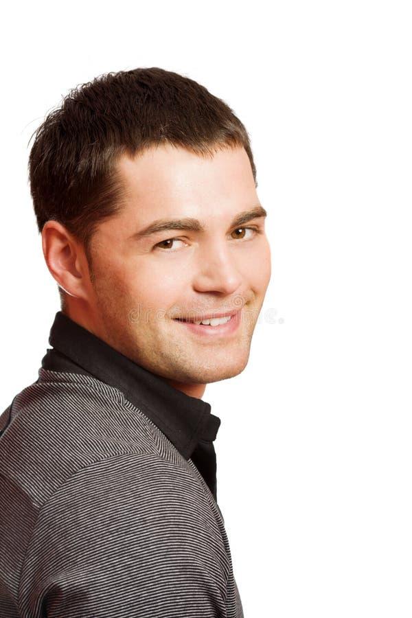 uśmiechnięci mężczyzna potomstwa zdjęcie stock