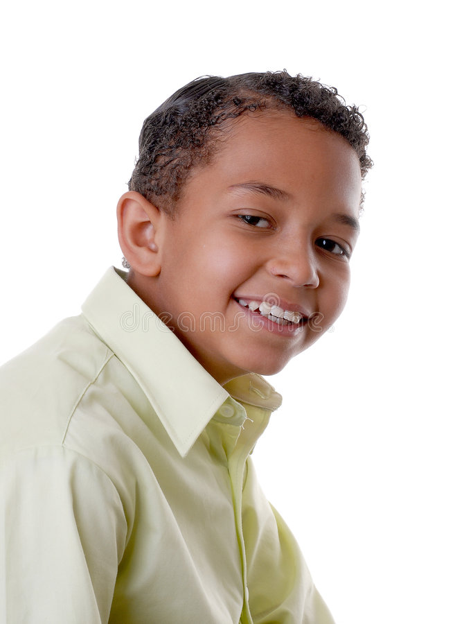 uśmiechnięci młodych czarnych obraz royalty free