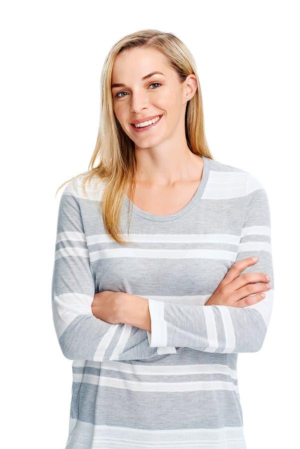 uśmiechnięci młodych kobiet obrazy stock