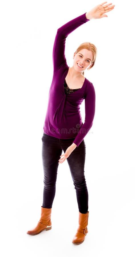 Download Uśmiechnięci Rozciągania Kobiety Potomstwa Zdjęcie Stock - Obraz złożonej z emocja, zabawa: 41950042