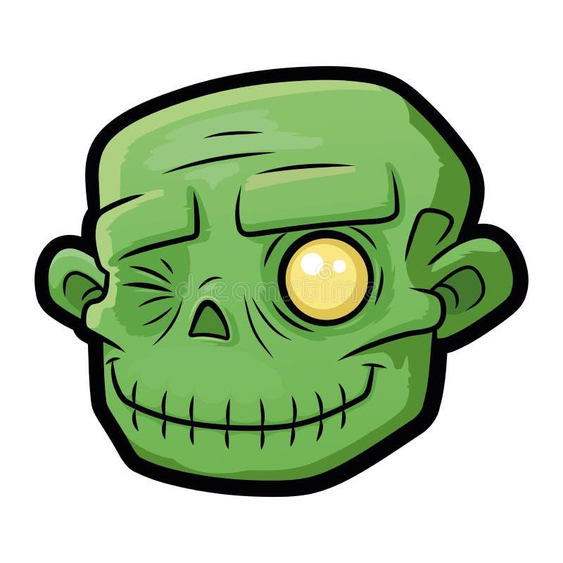 Uśmiechnięta żywy trup głowa 2 ilustracji