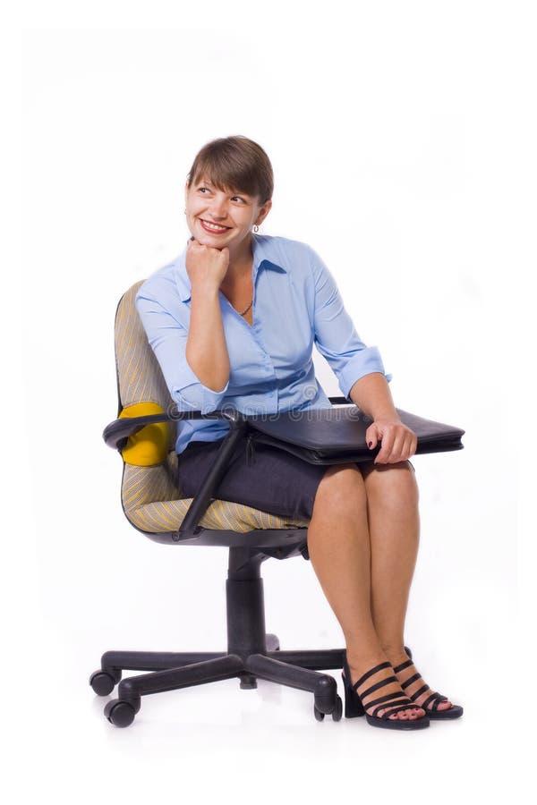 Uśmiechnięta biznesowa dama zdjęcie stock