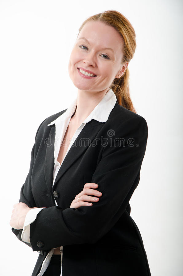 Uśmiechnięta biznesowa kobieta obrazy royalty free