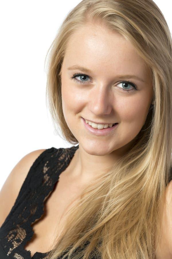 Uśmiechnięta blond dziewczyna obrazy royalty free