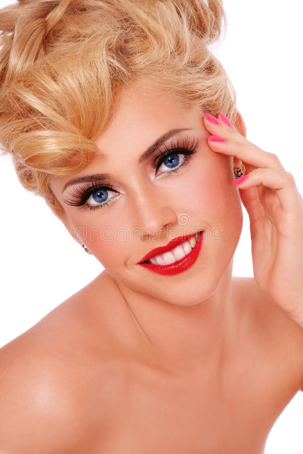 Uśmiechnięta blondynka fotografia royalty free