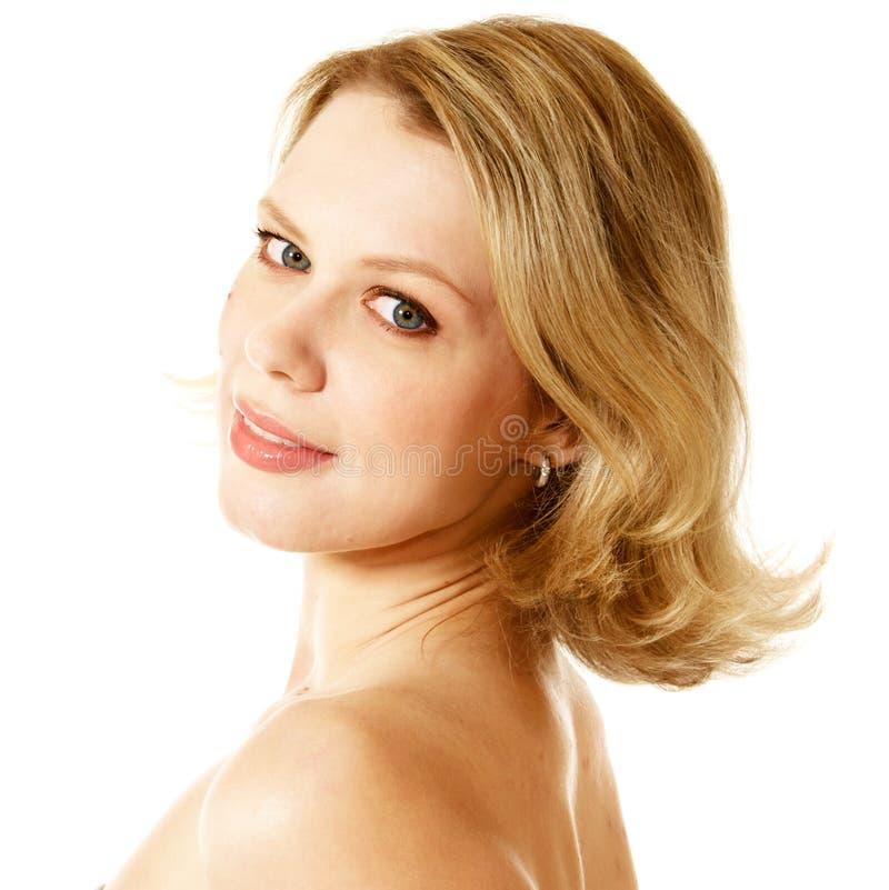 uśmiechnięta blondynki kobieta fotografia royalty free