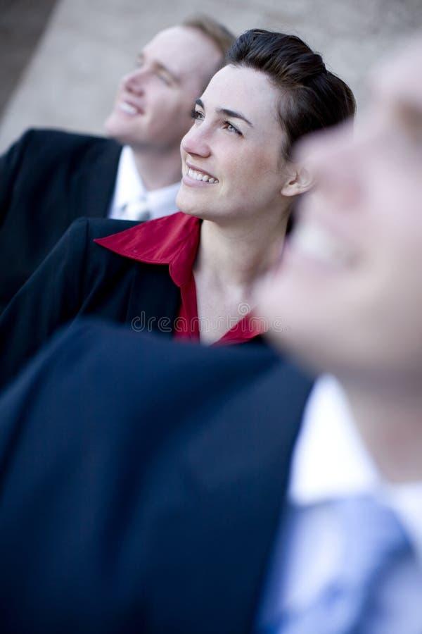 uśmiechnięta busienss drużyna zdjęcie royalty free