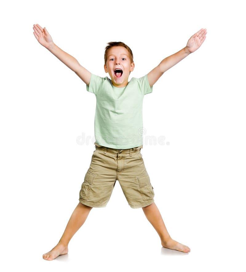 Uśmiechnięta chłopiec zdjęcia stock