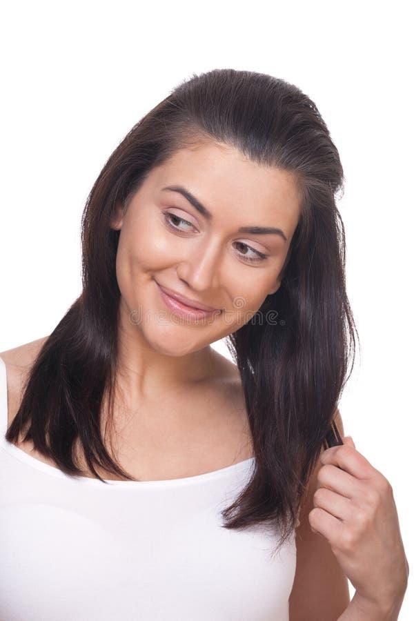 Uśmiechnięta flirty dziewczyna zdjęcia stock