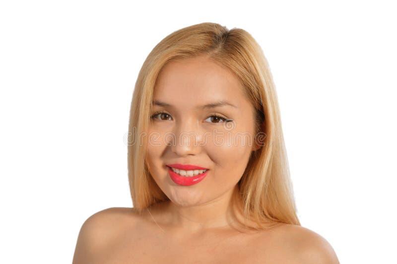 Uśmiechnięta kazach dziewczyna obrazy royalty free
