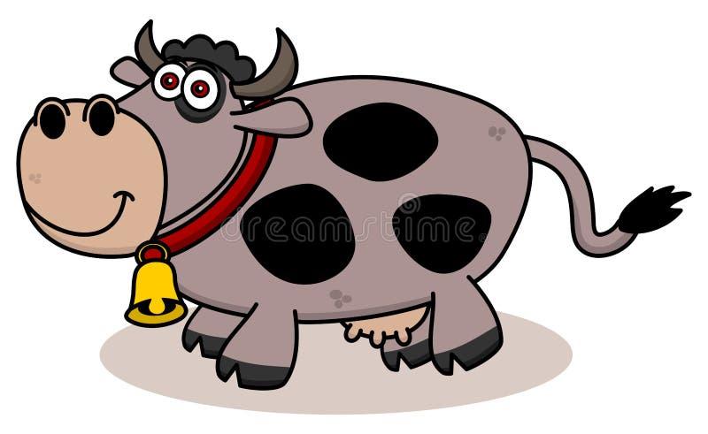 Download Uśmiechnięta Krowa Na Profilu Ilustracji - Ilustracja złożonej z pojedynczy, bydlę: 57662774