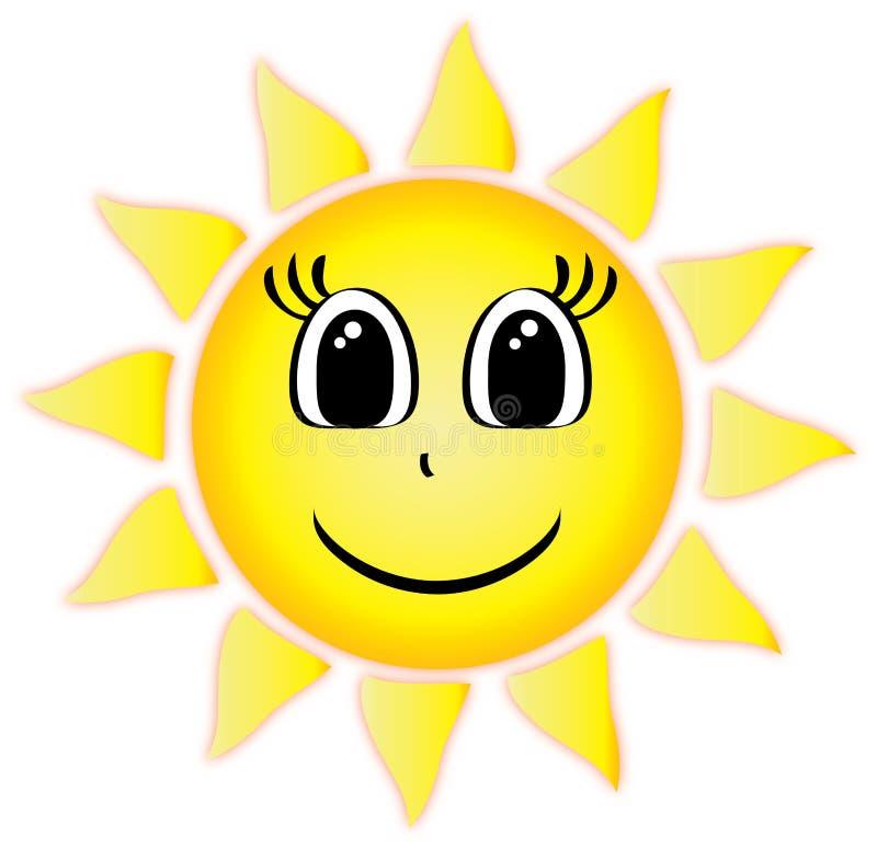 Uśmiechnięta lata słońca klamerki sztuka ilustracji