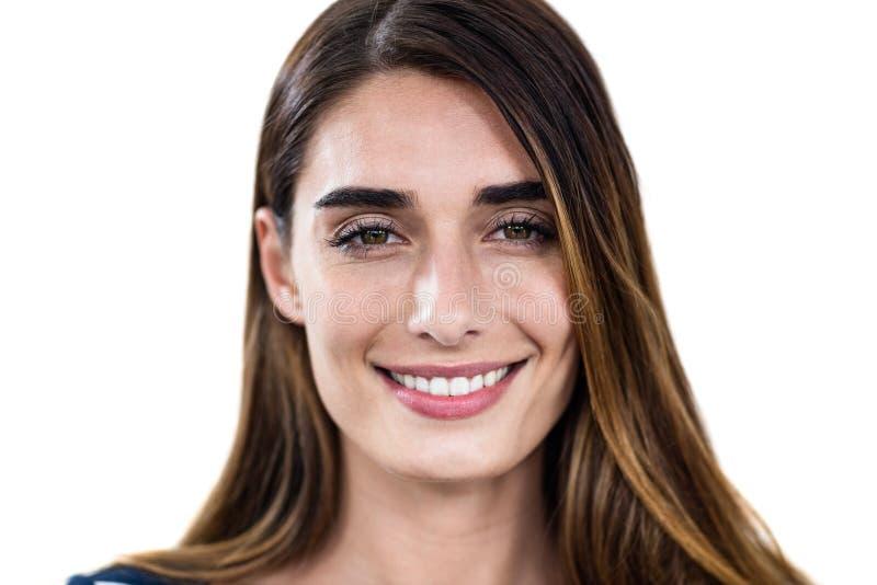Uśmiechnięta młoda kobieta Close-up portret obrazy stock