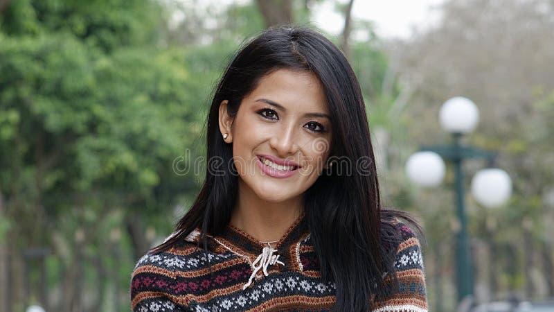 Uśmiechnięta Młoda Kobieta Uśmiechnięty fotografia stock