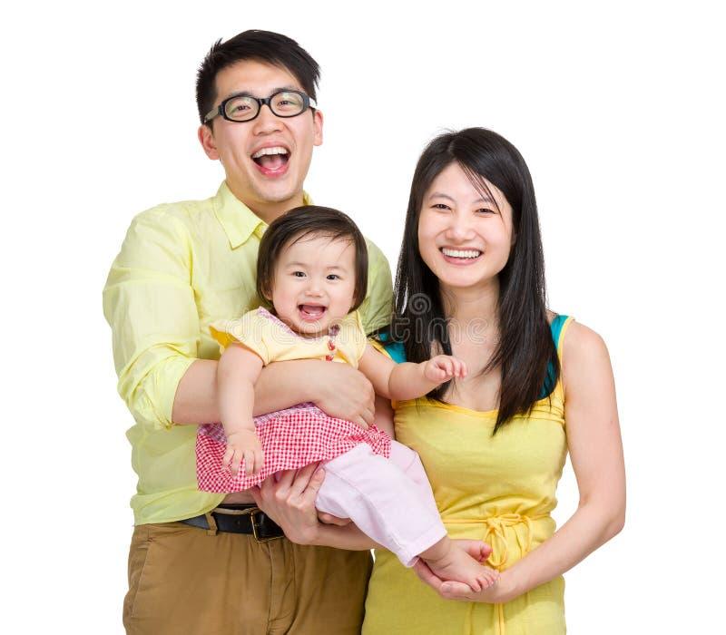 Uśmiechnięta rodzina obraz royalty free