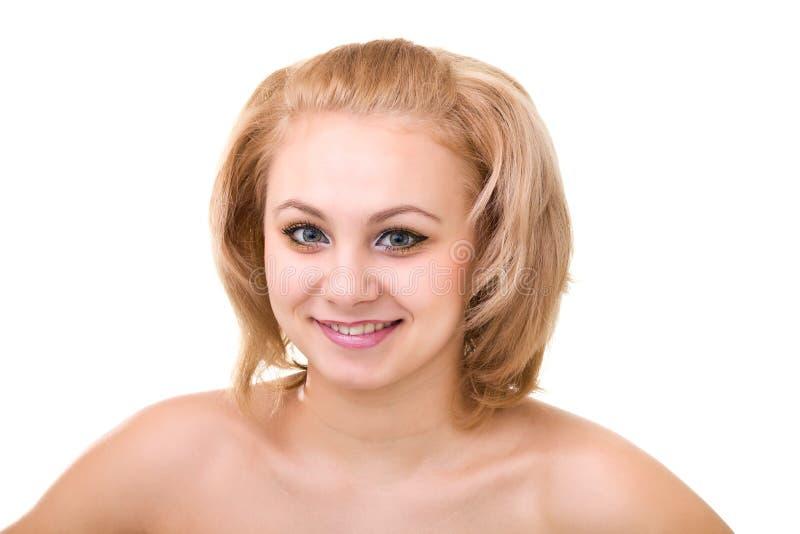 Uśmiechnięta seksowna kobieta zdjęcie royalty free