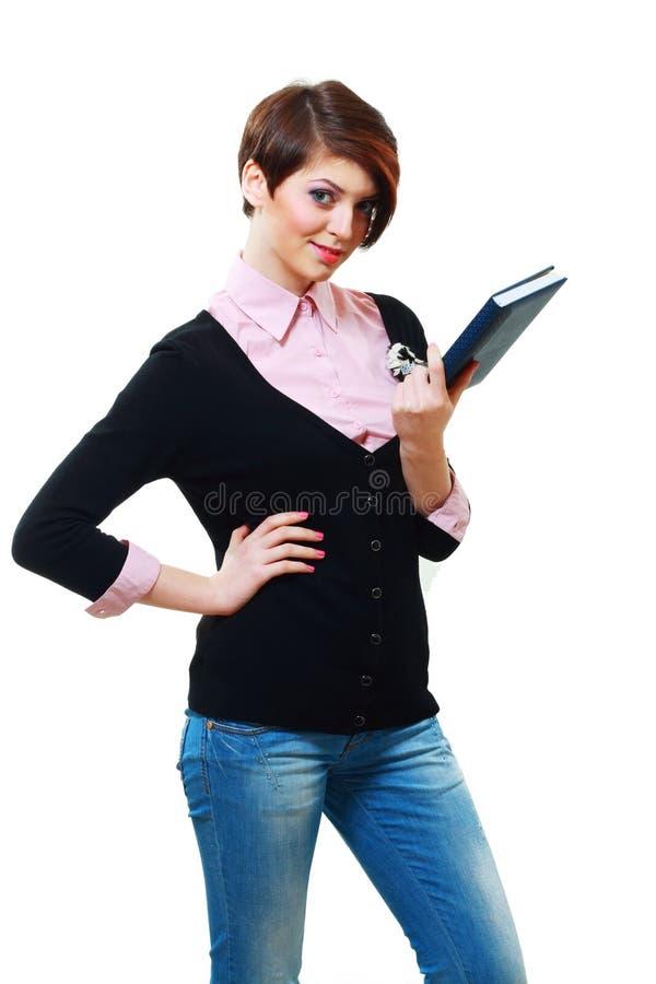 Uśmiechnięta studencka kobieta obraz royalty free