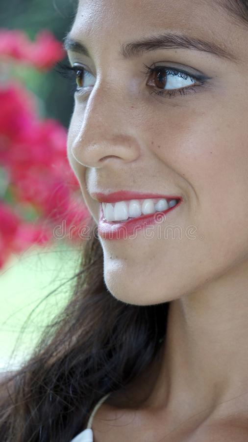 Uśmiechnięta twarz Ładna osoba obraz royalty free