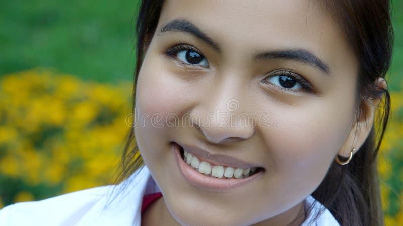 Uśmiechnięta twarz kobieta obraz stock
