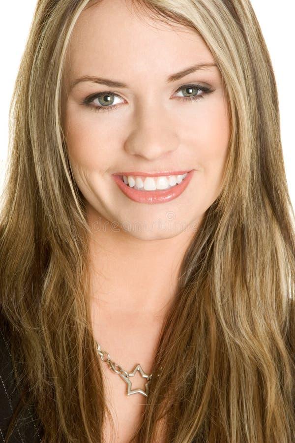 uśmiechnięta twarz kobiety zdjęcie royalty free