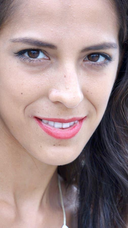 Uśmiechnięta twarz Latina osoba fotografia stock